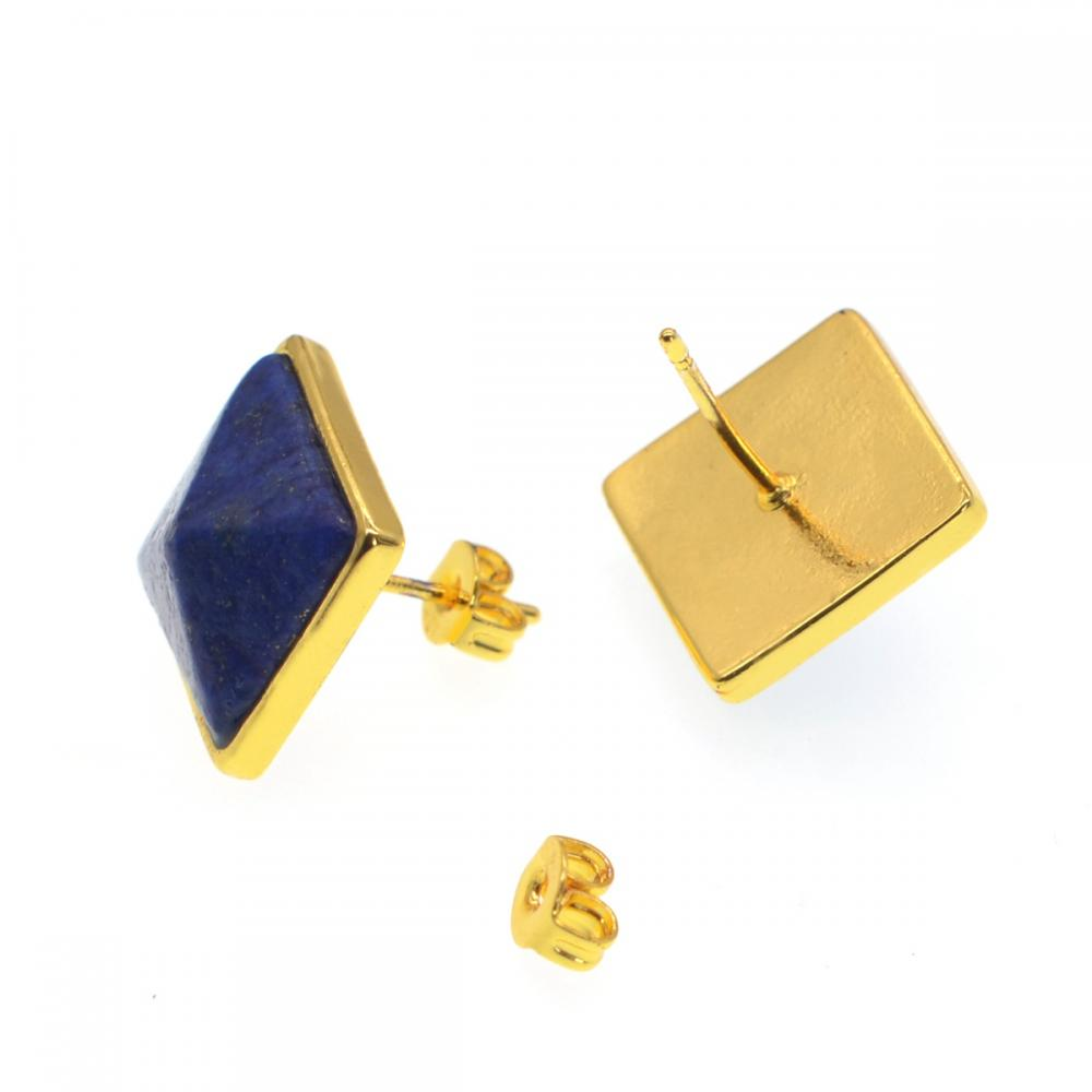 Lapis lazuli lucky Stone Earrings Stud
