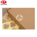 Custom Logo Printed Kraft Paper Brown Sticker
