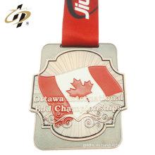 Esmalte de bronce de recuerdo Medalla de premio brasileño de deportes personalizados Jiu-Jitsu para Canadá
