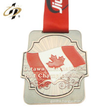 Souvenir bronze enamel Brazilian Jiu-Jitsu custom sports award medal for canada