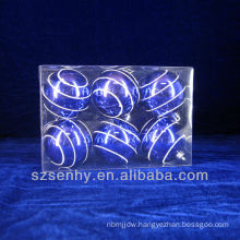 6cm cheap inflatable blue plastic christmas ornaments balls