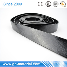 Shinny Black Geprägte Muster Wasserdicht PVC Vinyl Schweißbar Polyester Gurtband