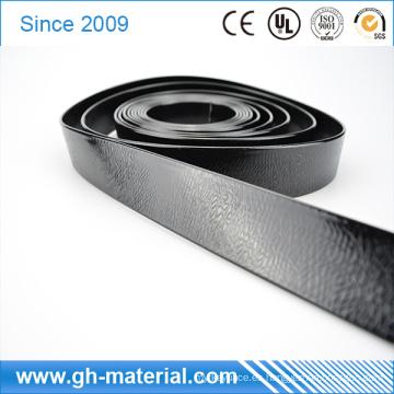 Shinny Black Embossed Patterns Waterproof PVC Vinyl Soldable Poliéster Correas