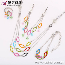 62539 nouvelle mode élégante CZ diamant rhodium bijoux ensemble pour les femmes