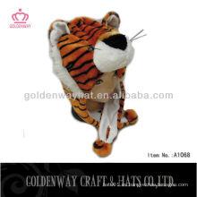 Sombrero de animal de peluche de tigre de invierno