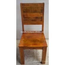 Chaise de restaurant en bois massif Brown Antique Color