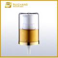 Aluminium cosmetic lotion pump with AS overcap