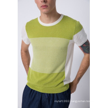Summer Fit Round Neck Knit Short Sleeve Men Sweater