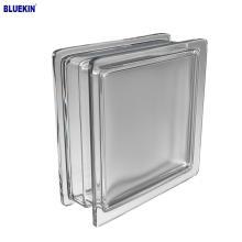 venda quente 190 * 190 bloco de vidro paralelo azul decorativo