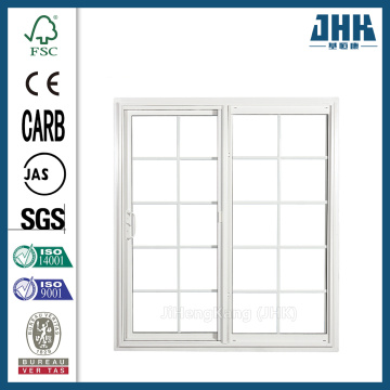 JHK White Wood Frame  Door Sliding System
