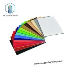 Panel de plástico de aluminio de fluorocarbono de material sólido