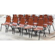 Cadeira de couro vintage industrial