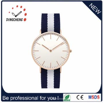 Moda Nylon Strap Aço Inoxidável Voltar Daniel Wellington Watch (DC-1002)