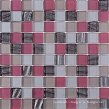 Американская толщина 8мм розового хрусталя с трещиной стеклянной мозаики