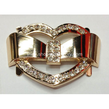 2013 Fashion Heart Design Rhinestone Alloy Shoe Buckle
