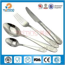conjunto de tenedor y cuchara de ensalada real de acero inoxidable