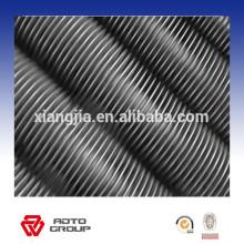 Tubo con aletas espirales de acero inoxidable