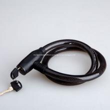 Trava de fio de aço de bicicleta com chave 2
