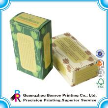 Caja de jabón de papel decorativa colorida de encargo