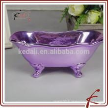Baignoire miniature galvanisée en céramique pour salle de bain