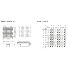 2,3 Zoll, 5,0 mm Ellipsenmatrix (GNML-23884Ax-Bx)
