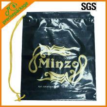 Hochwertiger Druck angepasst farbigen Kordelzug Plastiktüte wasserdicht Kordelzug Rucksack Strandtasche