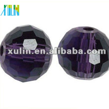 20mm Crystal Faceted Glass Round Bead Treasures Strand Bead 5003 #