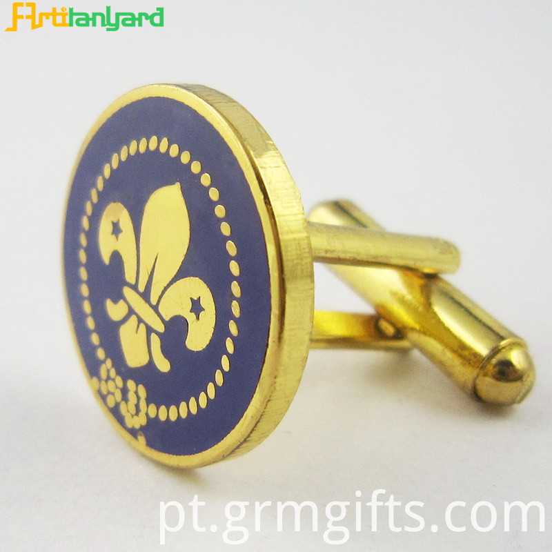 Gold Customized Metal Cufflink 4