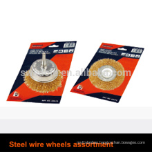 Steel wire wheels assortment Steel wire wheels assortment specification: