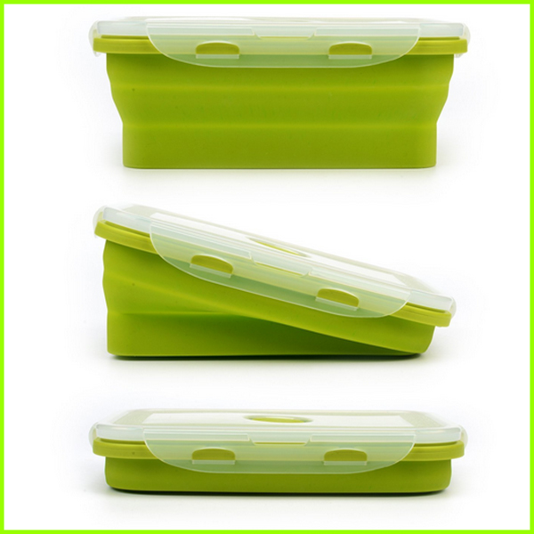 Popular Set Of 4 Eco Silicone Lunch Box Set
