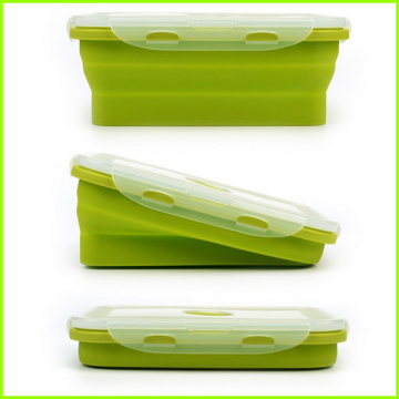 Lot De 4 Lunch Box Pliables En Silicone