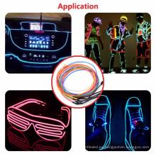 El Wire Set, Multi-Color Neon Light con batería de neón brillante Strobing Electroluminiscente de alambre para al aire libre