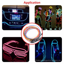 El Wire Set, Multi-Color Neon Light with Battery Pack Neon Glowing Strobing Electroluminescent Wire for outdoor