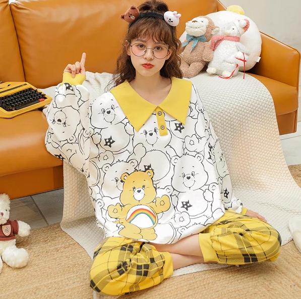 Long Sleeved Cotton Nightwear Pajamas