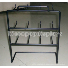 Cheap Grocery Store Table Top 6Mm Wire 12 Hooks Pequenos itens Retail Black Metal Hanging Display Racks