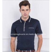 100% Algodão Pique Mens Tee Shirt, Polo Masculino