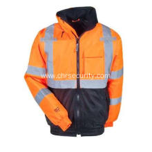 Men's High-Visibility Orange  Waterproof Insulated Jacket