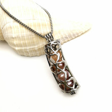 Charm Locket Hollow Cage Pendant for Necklace