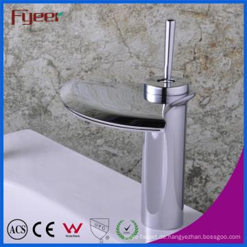 Fyeer Wasserfall Cranative Fan-Shaped Breite Spray Einhand Badezimmer Basin Wasserhahn Wasserhahn