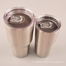 20oz 18/8 double wall stainless steel beer drinking tumbler with tritan slide lid
