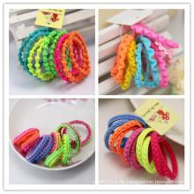 Kinder bunte weben Seilring elastische Haarbänder (je1508)