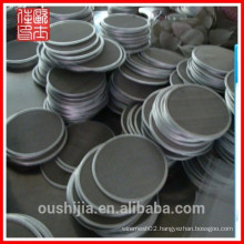 wholesale metal wire woven filter mesh disc/woven filter mesh packs/Dutch woven filter mesh disc/