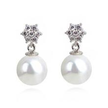 Pearl einseitig Ball Perlen Ohrstecker Plug Ohrringe