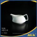 Pote de porcelana blanca