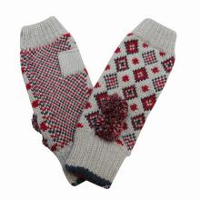 Guantes de punto de invierno de señora Fashion Long Cuff acrílico (YKY5419)