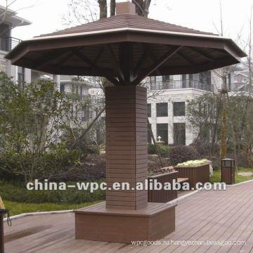 WPC шестиугольный павильон