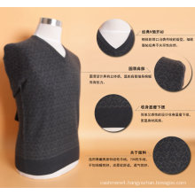Yak Wool /Cashmere V Neck Pullover Long Sleeve Sweater/Garment/Knitwear/Clothing