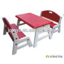 Durable and colorful children plastic chairs with table.