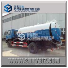 10000L Rhd Dongfeng 4X2 170HP Vakuum-Tanker Abwasser-Saugwagen