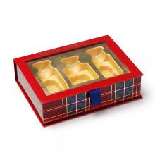 Boîtes en papier magnétiques avec fenêtre en PET